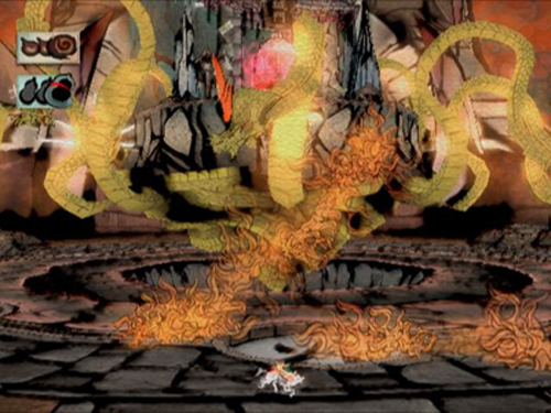 Okami Battle with Orochi