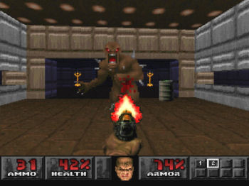 Doom playstation screenshot 2