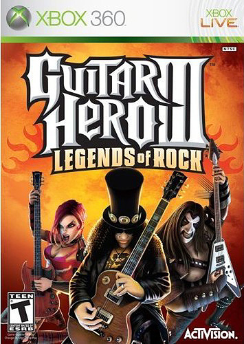 Guitar Hero 3 box art Xbox 360