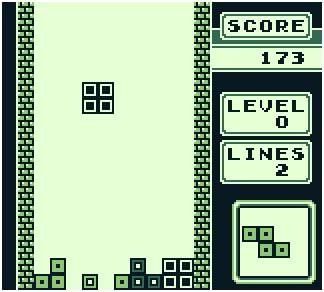 Tetris Game Boy Screenshot 2