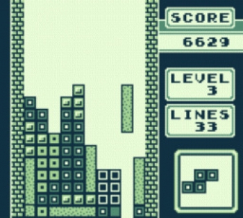 Tetris Game Boy Screenshot 1