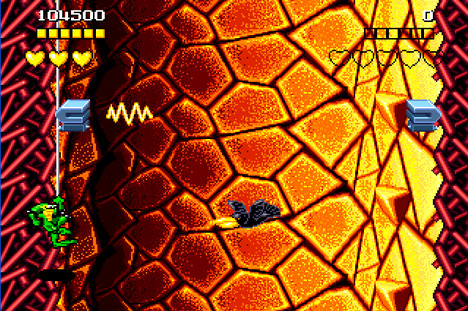 """It's too orangey for crows."" Not sure how the Kia Ora crows ended up in Battletoads."